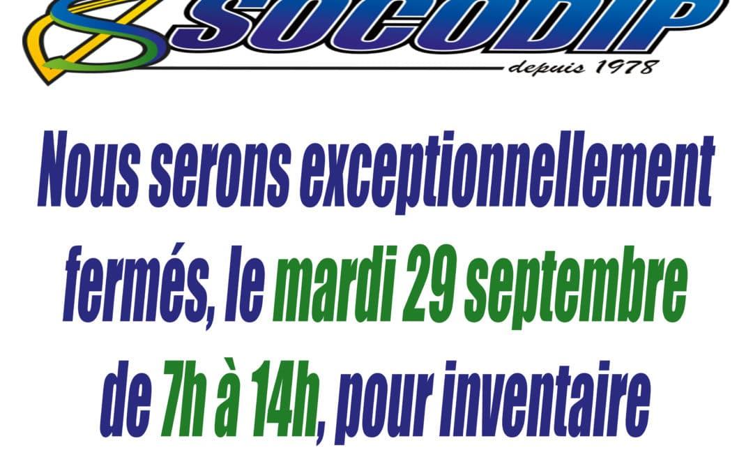 ⚠️ INVENTAIRE MARDI 29 7H / 14H ⚠️
